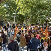 Profesionales del sector del campo se han concentrado en la plaza San Pedro Nolasco