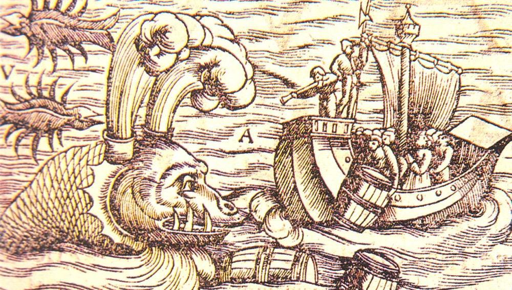 Ilustración de los monstruos marinos