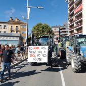 Los tractores tomaron las calles de Jaca el domingo