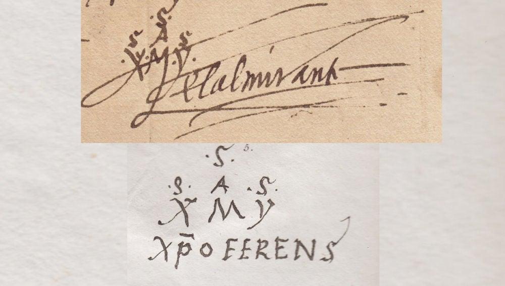 Las dos firmas de Cristóbal Colón