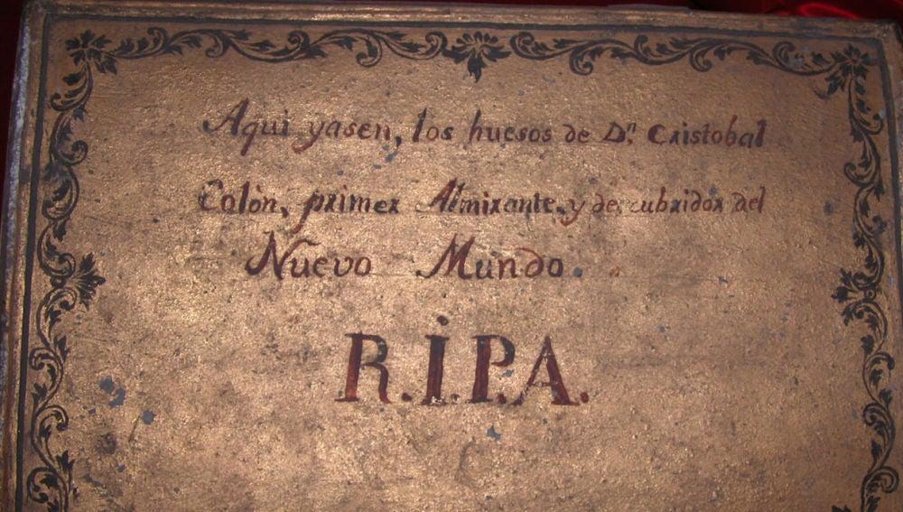 Urna de Cristóbal Colón en Sevilla