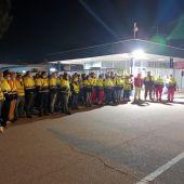 Los trabajadores de IDL se han concentrado a las puertas de la planta de Figueruelas
