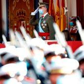 El rey Felipe VI durante el desfile militar del 12 de Octubre.