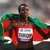 La atleta keniata Agnes Jebet Tirop