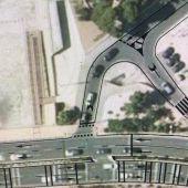 Plano de la pasarela peatonal en la playa de La Albufereta de Alicante