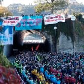 Manifestación en San Sebastián en apoyo los presos de ETA