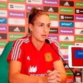 Alexia Putellas durante una rueda de prensa con la selección española