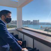 El Puerto de Málaga, a vista desde la terraza del Only YOU Málaga