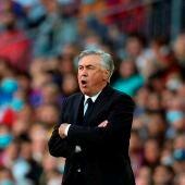 El entrenador del Real Madrid Carlo Ancelotti durante el Clásico